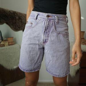 Vintage Lilac High Rise Denim Mom Jean Shorts W28